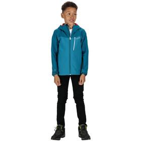 Regatta Highton Veste Shell Imperméable Enfant, gulfstream/olympic teal
